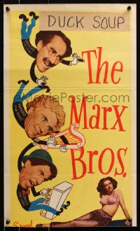7w873 NIGHT IN CASABLANCA insert 1946 The Marx Brothers, Groucho, Chico & Harpo!
