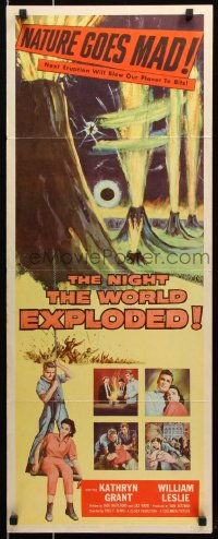 7w875 NIGHT THE WORLD EXPLODED insert 1957 a super-quake tilts the Earth, nature goes mad!