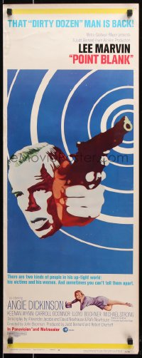 7w898 POINT BLANK insert 1967 cool art of Lee Marvin, Angie Dickinson, John Boorman film noir!
