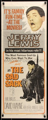 7w916 SAD SACK insert R1962 wacky cross-eyed Jerry Lewis in the Foreign Legion!