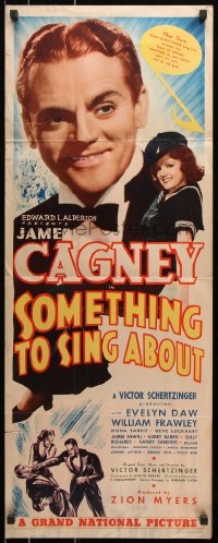 7w937 SOMETHING TO SING ABOUT insert 1937 song & dance man, a James Cagney you've never seen!