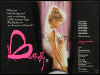 7y075 BUTTERFLY British quad 1982 Chantrell art of Pia Zadora, undulating child-woman hips!
