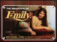 7y077 EMILY British quad 1976 completely different image of sexiest English Koo Stark!