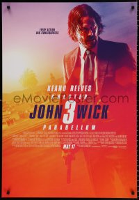 7y018 JOHN WICK CHAPTER 3 advance Canadian 1sh 2019 Keanu Reeves in the title role as John Wick!