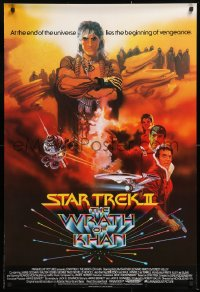 7y070 STAR TREK II English 1sh 1982 The Wrath of Khan, Ricardo Montalban, Shatner, Bob Peak art!