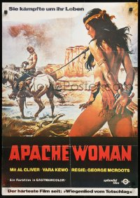 7y036 APACHE WOMAN German 1978 Giorgio Mariuzzo, sexy artwork of nearly-naked woman tied up!