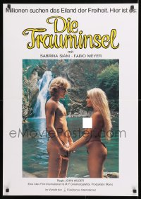 7y037 BLUE ISLAND German 1982 Due Gocce D'Acqua Salata, super sexy image of couple on beach!