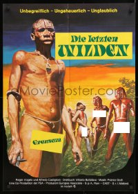 7y041 LAST SAVAGE German 1979 Addio ultimo uomo, Italian pain documentary!