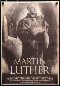 7y049 MARTIN LUTHER German 16x23 1954 Irving Pichel, most famous rebel against Catholic church!