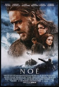 7y007 NOAH advance DS Mexican poster 2014 cool image of Russell Crowe in the title role!