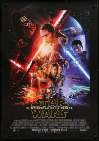 7y030 FORCE AWAKENS DS South American 2015 Star Wars: Episode VII, great cast montage image!