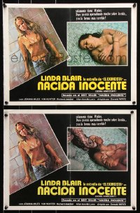 7y035 BORN INNOCENT group of 6 South American LCs 1974 art/images of runaway Linda Blair, TV movie!