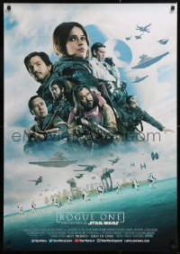 7y034 ROGUE ONE advance DS South American 2016 Star Wars Story, Felicity Jones, top cast montage!