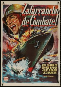 7y054 AWAY ALL BOATS Spanish 1960 Jeff Chandler, different art, battle cry of the South Pacific!
