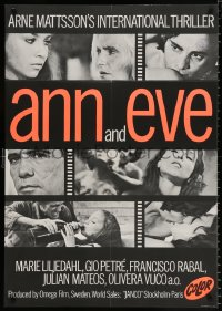 7y019 ANN & EVE export Swedish 1970 Gio Petre, Marie Liljedahl, you haven't seen it all, b/w style