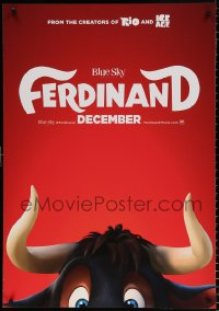 7y009 FERDINAND teaser Swiss 2017 John Cena voices title role, great partial image of bull!