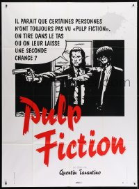 8b884 PULP FICTION French 1p 1994 Tarantino, should Travolta & Jackson give 'em a second chance?