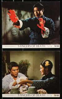 8c013 5 FINGERS OF DEATH 8 8x10 mini LCs 1973 martial arts masterpiece with sights like never before!