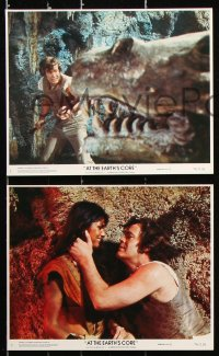 8c055 AT THE EARTH'S CORE 7 8x10 mini LCs 1976 Caroline Munro, Peter Cushing, Doug McClure