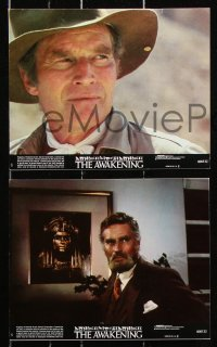 8c016 AWAKENING 8 8x10 mini LCs 1980 Charlton Heston, Egypt, the evil one must not live again!