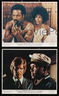 8c005 BLACK GUNN 11 color 8x10 stills 1972 Jim Brown is dynamite, Martin Landau, Brenda Sykes