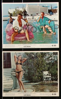 8c018 BRAIN 8 color 8x10 stills 1969 cool images of David Niven, Eli Wallach!