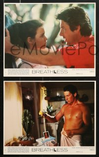 8c019 BREATHLESS 8 8x10 mini LCs 1983 great images of Richard Gere & sexy Valerie Kaprisky!