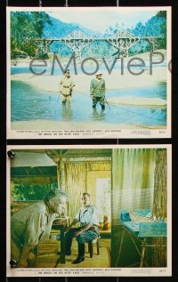 8c057 BRIDGE ON THE RIVER KWAI 7 color 8x10 stills R1964 Holden, Guinness, Sears, David Lean classic