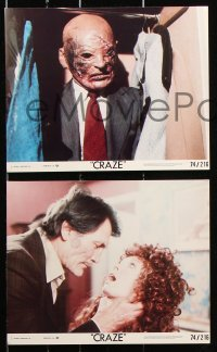8c022 CRAZE 8 8x10 mini LCs 1973 crazy Jack Palance, Julie Ege, Diana Dors, color & b/w design!