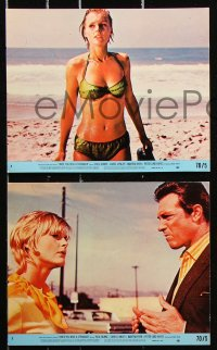 8c065 ONCE YOU KISS A STRANGER 7 8x10 mini LCs 1970 many images of super sexy Carol Lynley!