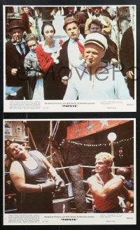 8c045 POPEYE 8 8x10 mini LCs 1980 Robert Altman, Robin Williams & Shelley Duvall, E.C. Segar!