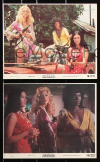 8c048 SAVAGE SISTERS 8 8x10 mini LCs 1974 great image of Cheri Caffaro & bad girls with big guns!