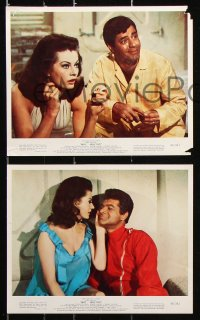 8c074 WAY WAY OUT 7 color 8x10 stills 1966 astronaut Jerry Lewis all in sci-fi scenes!