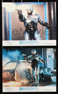 8c066 ROBOCOP 2 7 color English FOH LCs 1990 great images of cyborg policeman Peter Weller!