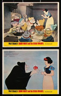 8c068 SNOW WHITE & THE SEVEN DWARFS 7 color English FOH LCs R1960s classic Disney cartoon images!