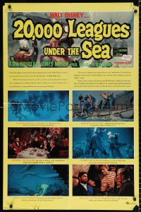 8f003 20,000 LEAGUES UNDER THE SEA style B 1sh R1963 Jules Verne classic, art of deep sea divers!