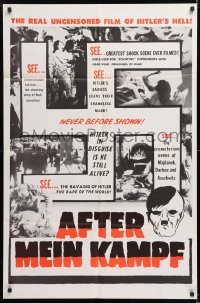 8f025 AFTER MEIN KAMPF 1sh 1961 the real uncensored film of Hitler's Hell!