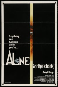8f037 ALONE IN THE DARK 1sh 1982 cool completely different art of eye peeking through crack!