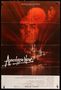 8f056 APOCALYPSE NOW 1sh 1979 Francis Ford Coppola, classic Bob Peak art of Brando and Sheen!