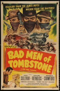 8f072 BAD MEN OF TOMBSTONE 1sh 1948 outlaws deadlier than the James boys & wilder than the Daltons!