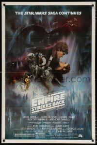 8f347 EMPIRE STRIKES BACK NSS style 1sh 1980 classic Gone With The Wind style art by Roger Kastel!