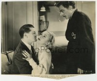 8g071 20th CENTURY 7.75x9.25 still 1934 jealous director John Barrymore by Carole Lombard & Forbes!