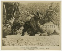 8g075 7th VOYAGE OF SINBAD 8.25x10 still 1958 Harryhausen FX image of cyclops fighting dragon!