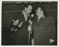 8g077 ABBOTT & COSTELLO 8x10 still 1942 auctioning Lou's shoes at the Buy a Bomber drive!