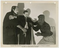 8g079 ABBOTT & COSTELLO MEET FRANKENSTEIN 8x10 still R1951 best image of Lugosi, Chaney & Strange!