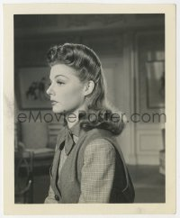 8g049 ANN SHERIDAN 4.25x5 still 1940s profile portrait showing her beautiful hair & costume!