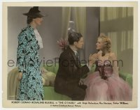 8g007 CITADEL color 8x10 still 1938 blonde woman glares at Robert Donat, who raises his hand at her!