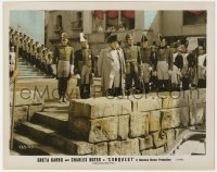 8g009 CONQUEST color-glos 8x10 still 1937 Charles Boyer as Napoleon with troops on city wall!