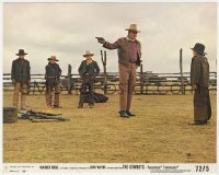 8g010 COWBOYS 8x10 mini LC #3 1972 big John Wayne instructs young boys to become real men!