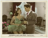 8g016 GOLD DIGGERS IN PARIS color-glos 8x10 still 1938 sexy dancer Rosemary Lane & Rudy Vallee!